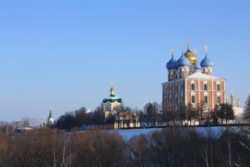 Vista do Ryazan Kremlin fotos de stock royalty free