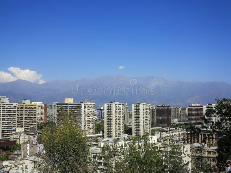 Vista do Santiago, o Chile foto de stock royalty free