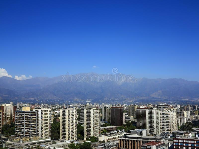 Vista do Santiago, o Chile imagem de stock royalty free