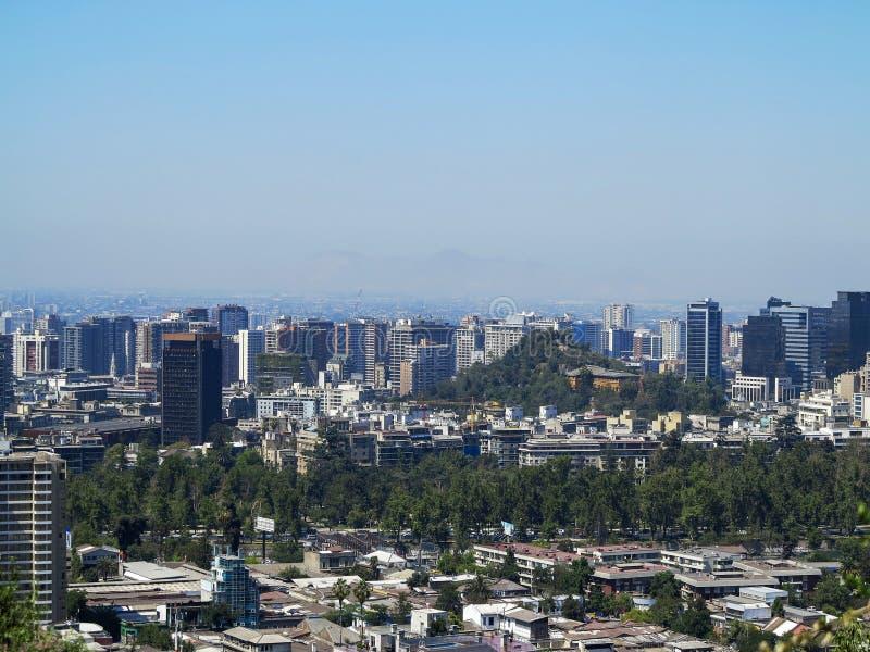 Vista do Santiago, o Chile imagens de stock royalty free