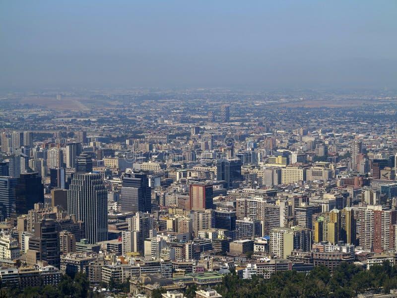 Vista do Santiago, o Chile fotos de stock royalty free