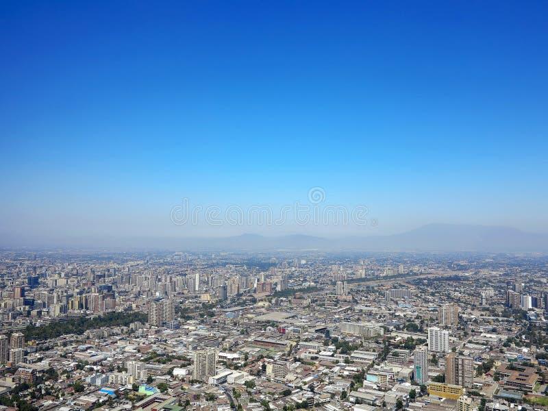 Vista do Santiago, o Chile fotografia de stock royalty free