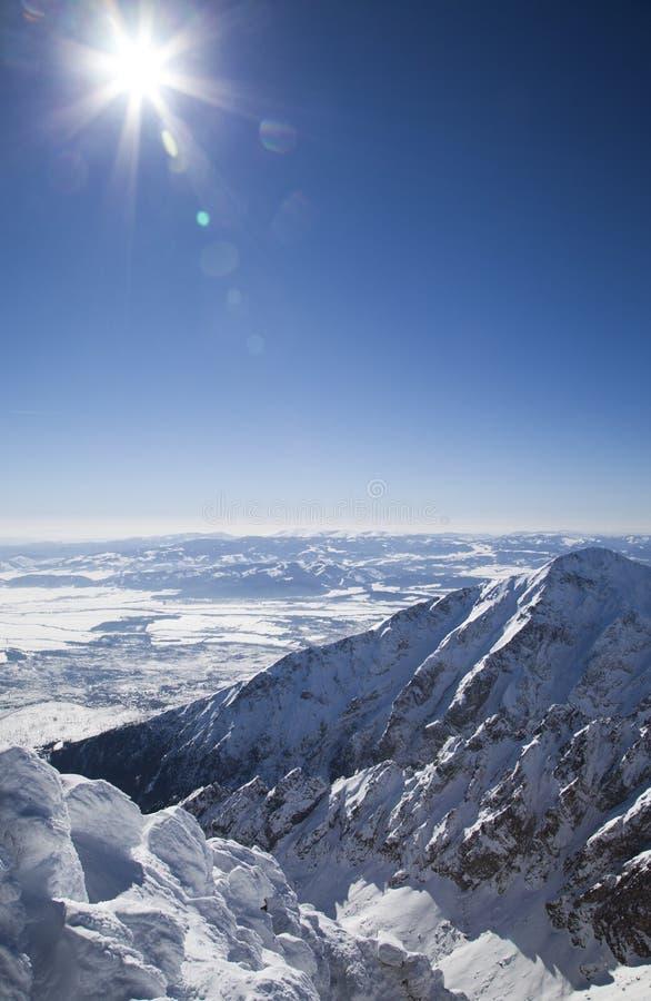 Vista do stit de Lomnicky - pico em Tatras alto foto de stock