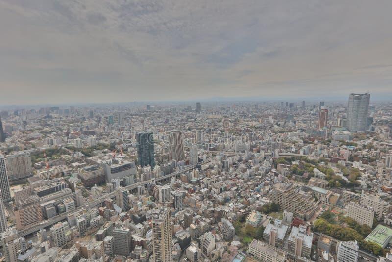 A vista do Tóquio na torre do Tóquio fotos de stock royalty free