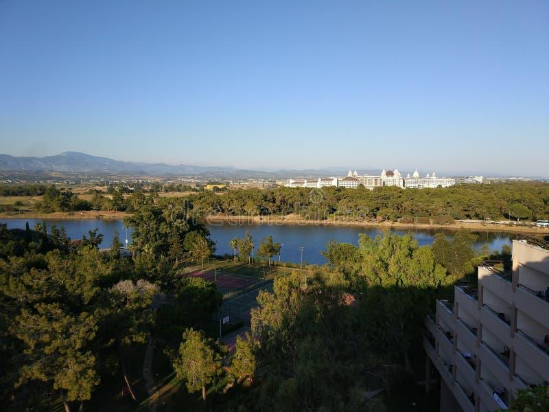 Vista do telhado do hotel em Turquia fotografia de stock