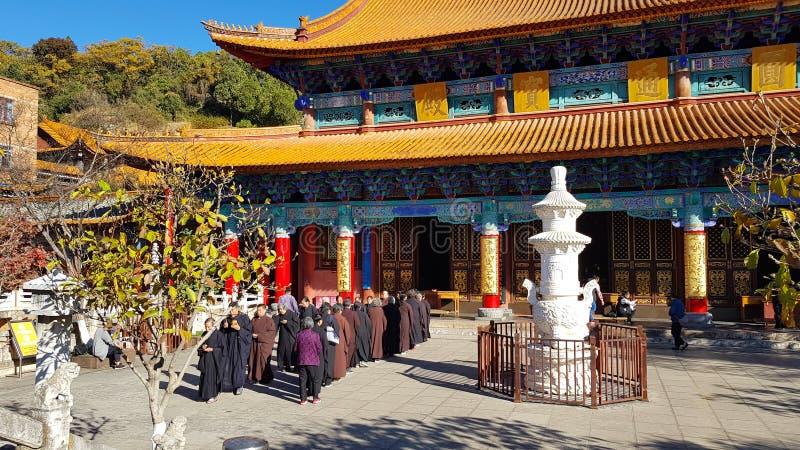 Vista do templo budista de Yuantong em Kunming, Yunnan, China foto de stock royalty free