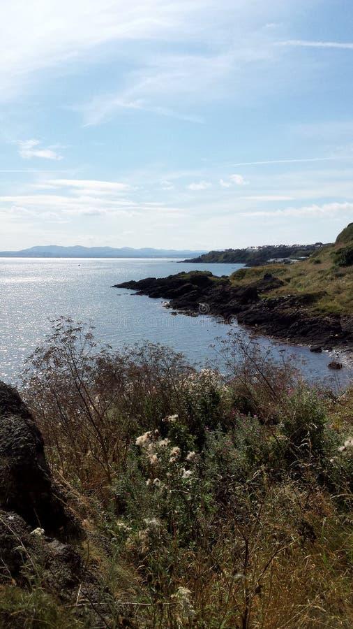 Vista do trajeto litoral foto de stock royalty free