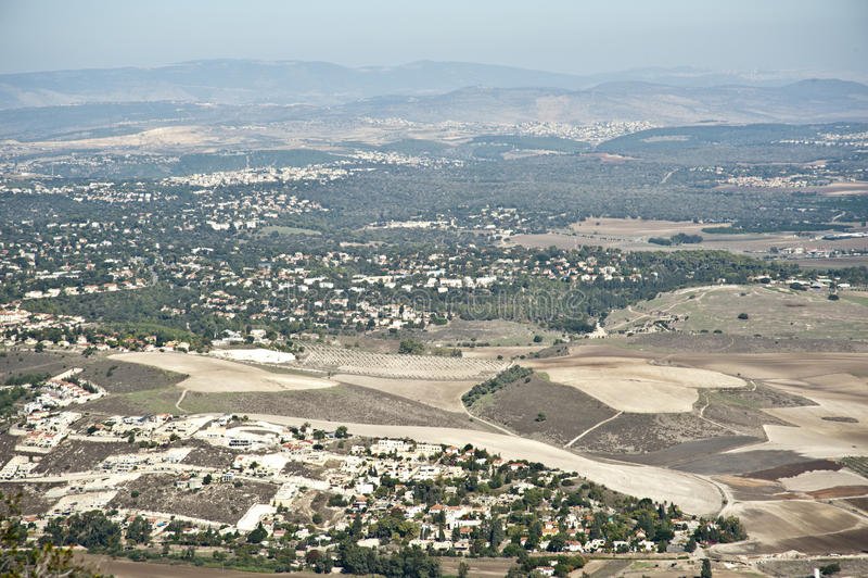 Vista do vale de Jezreel israel fotos de stock