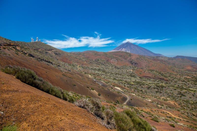 Vista do vulcão bonito Teide no verão fotos de stock royalty free