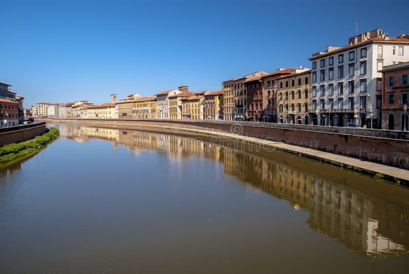 Vista dos acordos em Pisa foto de stock