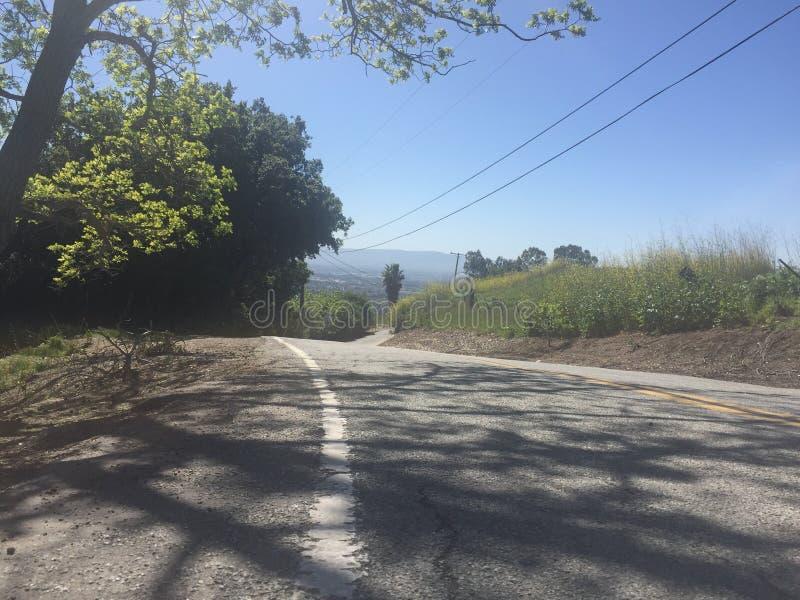 Vista dos montes da serra superior Rd, San Jose fotografia de stock