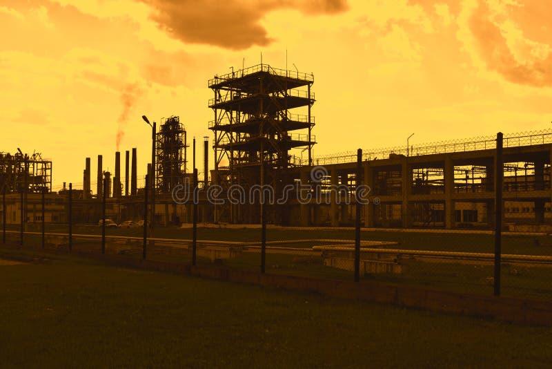 Vista dramática del químicamente combinado fotos de archivo