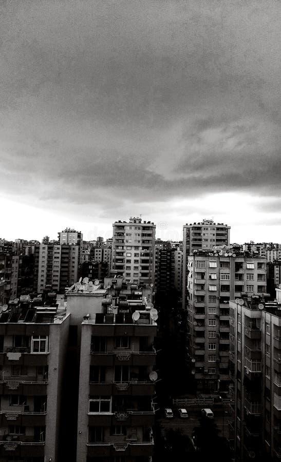 Vista e cielo immagine stock