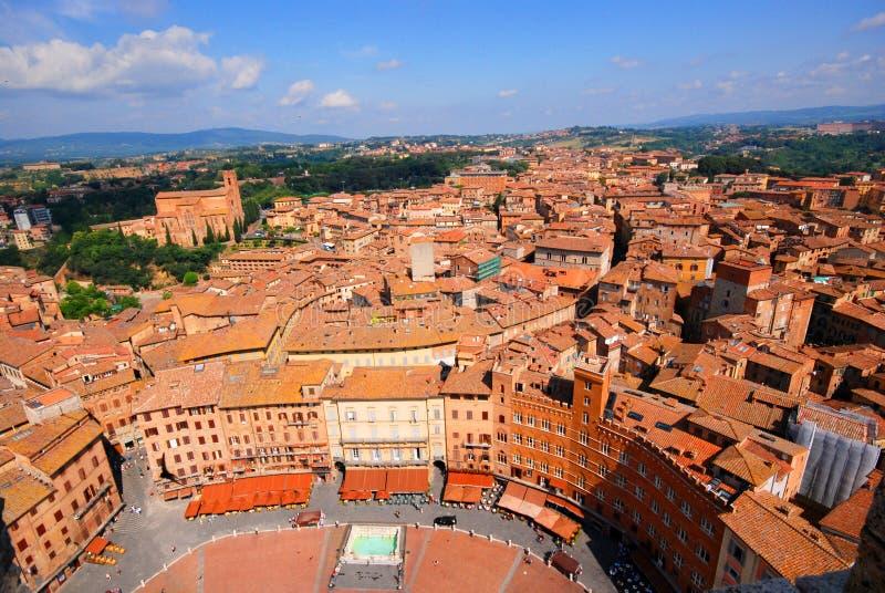 Vista elevada de Siena fotos de stock royalty free