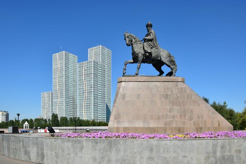 Vista em Astana em Astana fotografia de stock