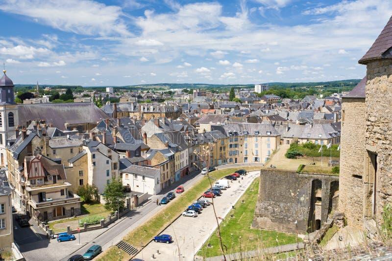 Vista em casas velhas no sedan da cidade, France fotografia de stock royalty free