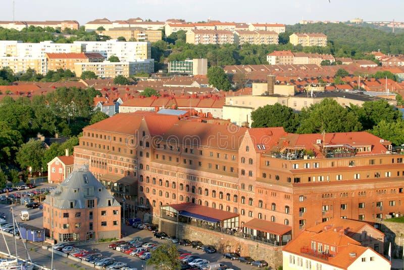 Vista em cima de Göteborg sueco imagem de stock royalty free