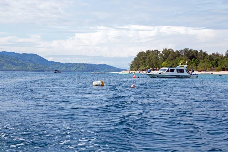 Vista em Gili Meno em Indonésia fotografia de stock