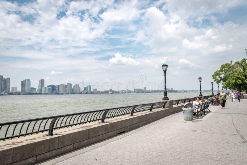 Vista em Jersey City fotos de stock royalty free