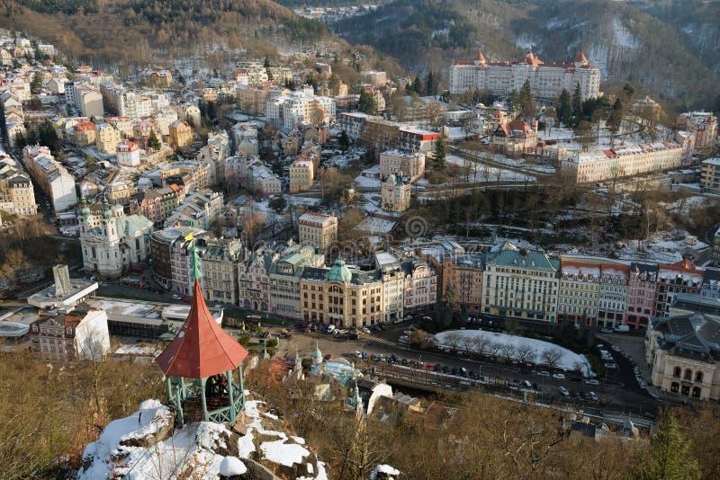A vista em Karlovy varia, República Checa fotos de stock