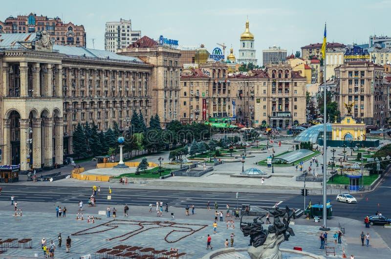 Vista em Kiev fotos de stock royalty free