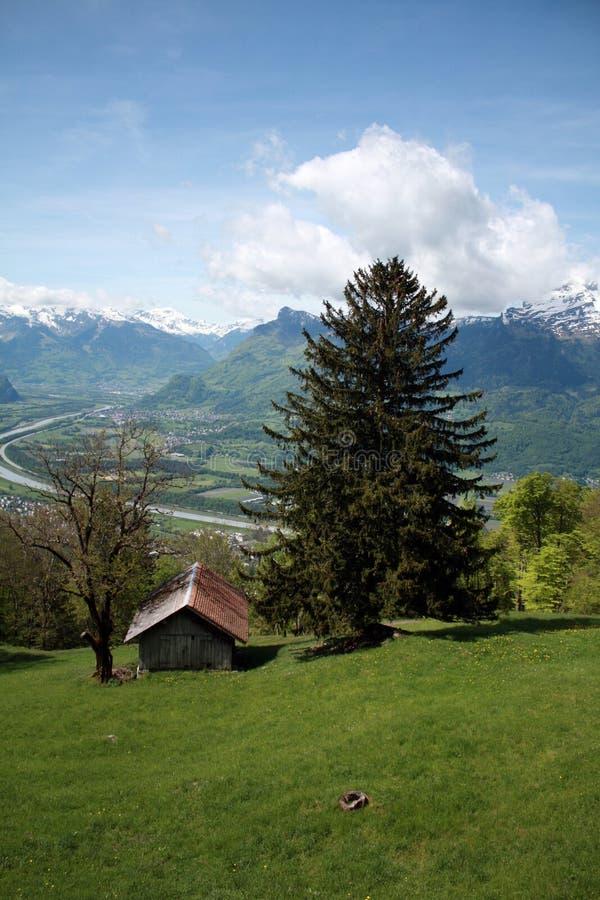 Vista em Lichtenstein foto de stock
