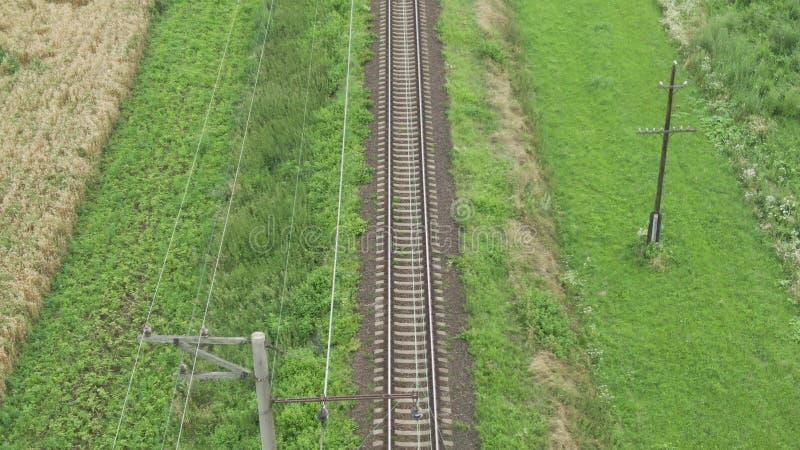 Vista em linhas da trilha railway imagens de stock