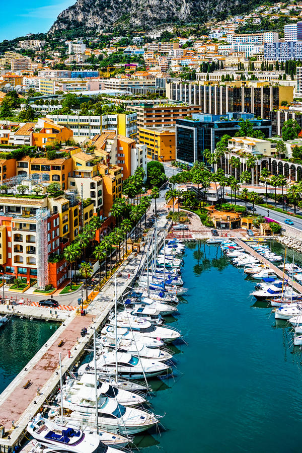 Vista em Monaco fotos de stock royalty free