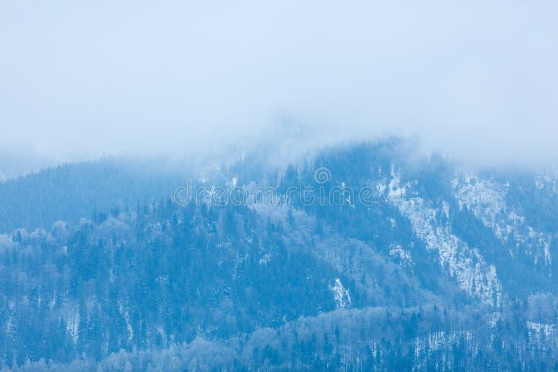 Vista em montanhas Tatry do inverno imagem de stock