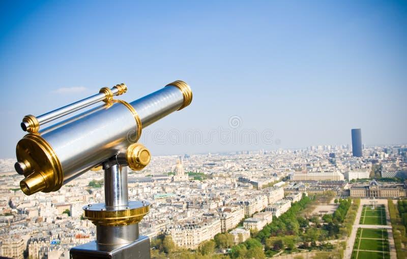 Vista em Paris. Opinião de olho de pássaros fotos de stock royalty free
