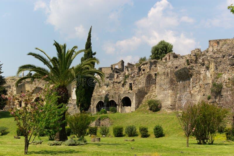 Vista em pompeii fotografia de stock