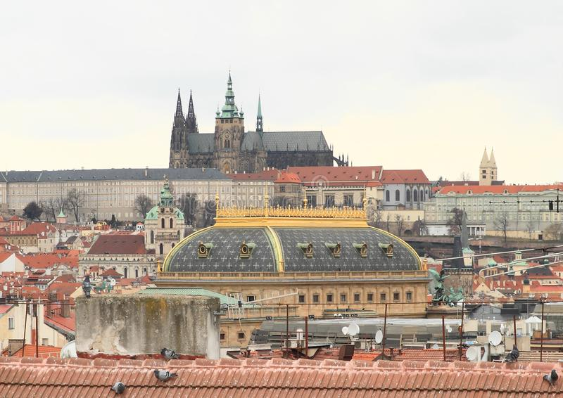 Vista em Praga fotos de stock