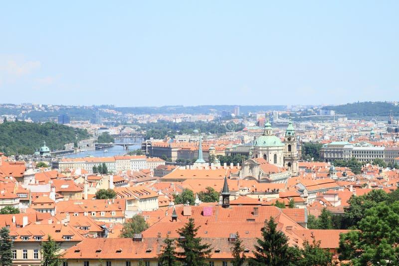 Vista em Praga imagem de stock