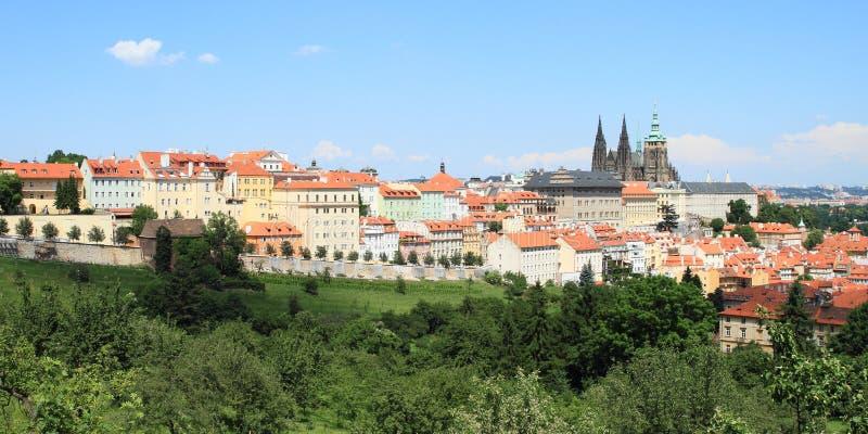 Vista em Praga imagens de stock