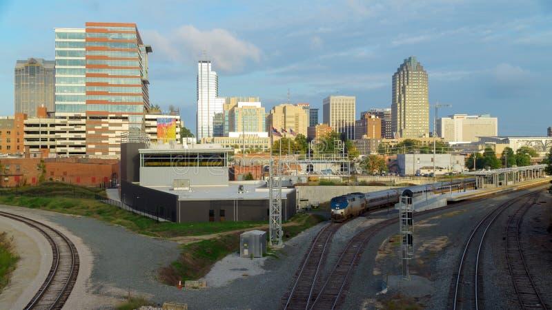 Vista em Raleigh do centro, NC imagens de stock royalty free