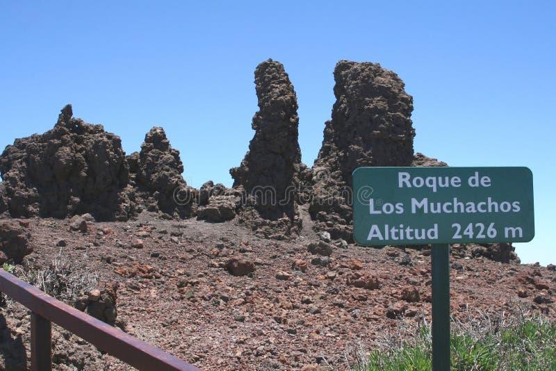 Vista em Roque de Los Muchachos, La Palma, Espanha imagens de stock