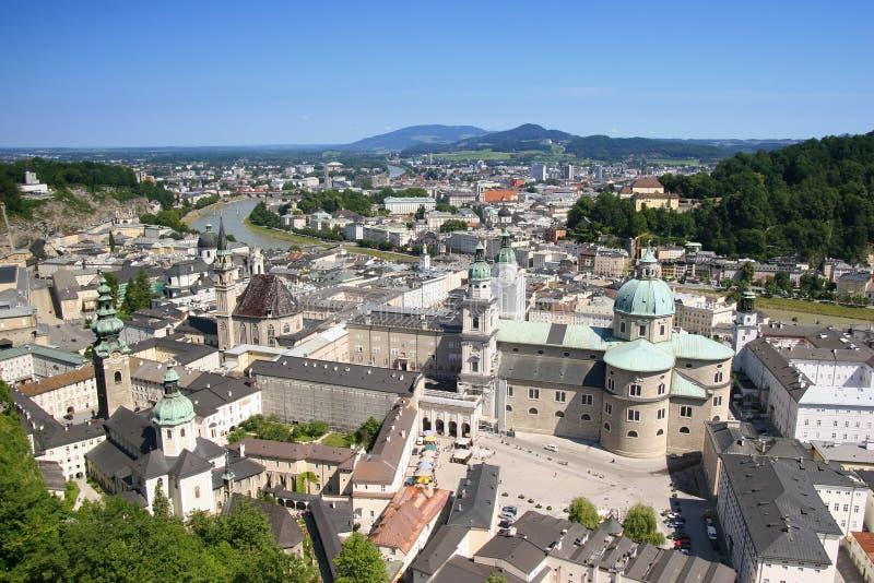 Vista em Salzburg, Áustria imagens de stock