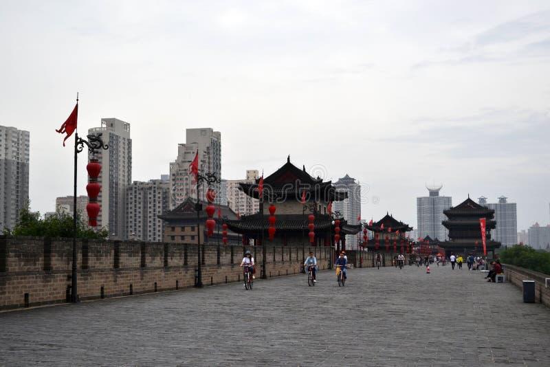 A vista em torno Xi do ` uma parede da cidade durante o dia nebuloso O PIC foi tomado foto de stock royalty free