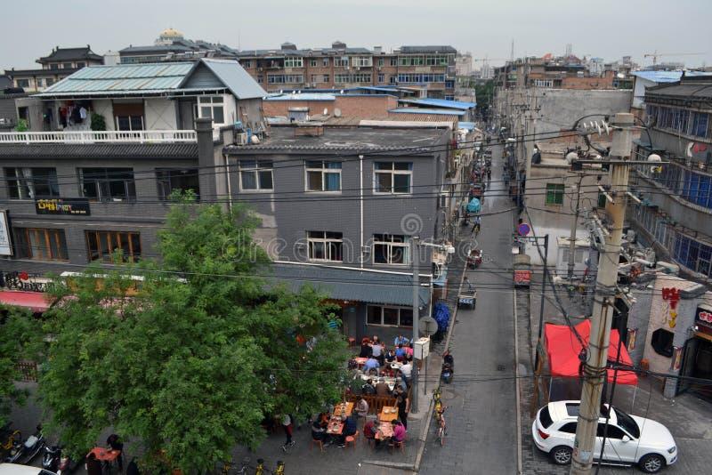 A vista em torno Xi do ` uma parede da cidade durante o dia nebuloso O PIC foi tomado imagem de stock royalty free