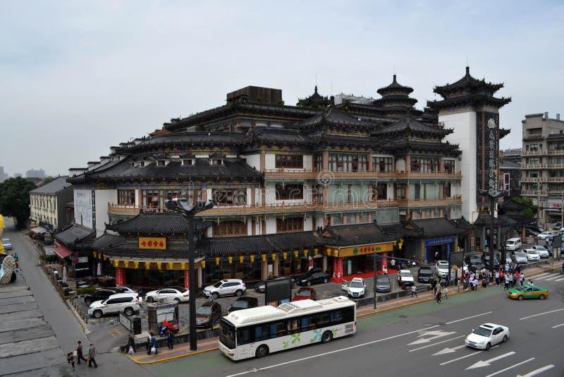 A vista em torno Xi do ` uma parede da cidade durante o dia nebuloso O PIC foi tomado fotos de stock royalty free