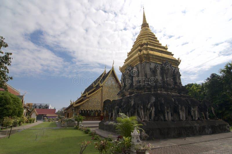 Vista em Wat Chiang Man, em Chiang Mai fotografia de stock