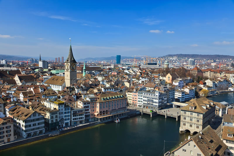 Vista em Zurique foto de stock