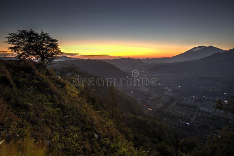 Vista escénica de Kintamani en Bali imagen de archivo