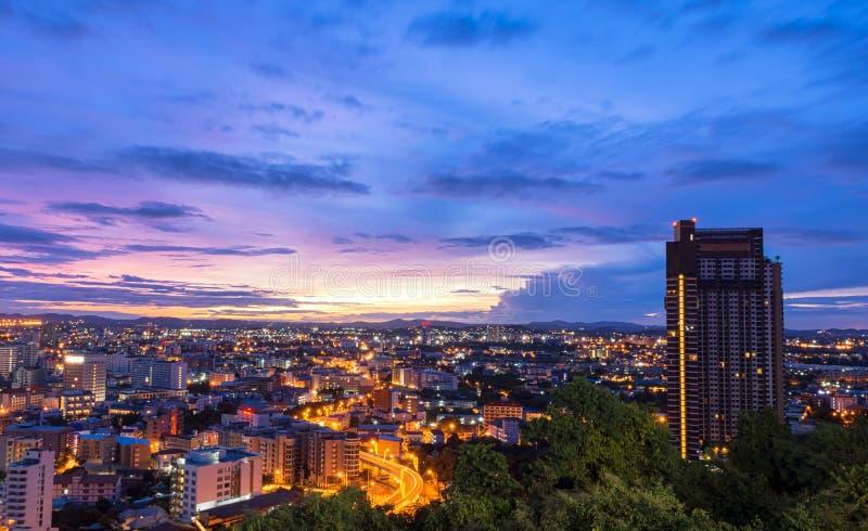 Vista escénica de la ciudad de Pattaya foto de archivo libre de regalías