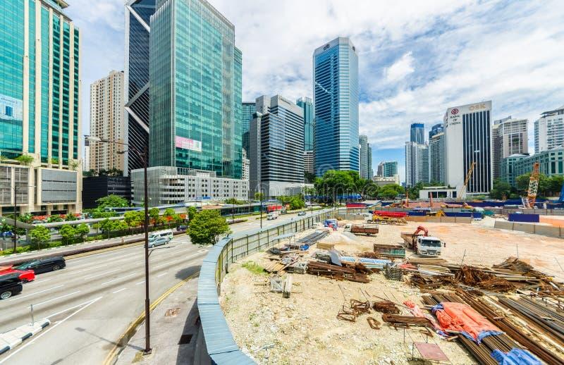 Vista escénica del desarrollo de la ciudad en Kuala Lumpur, Malasia imágenes de archivo libres de regalías