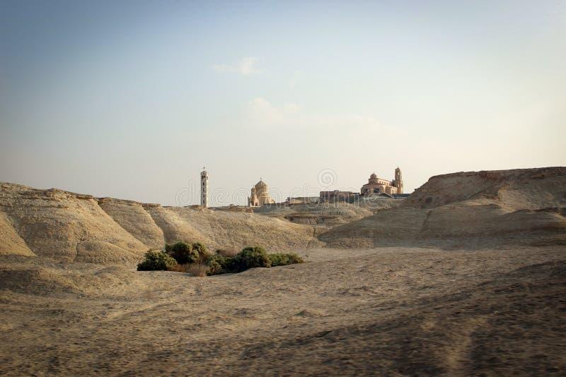 Vista escénica del desierto, lugares byblical cerca del río Jordán, Jordania foto de archivo libre de regalías