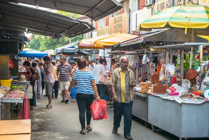 Vista escénica del mercado de la mañana en Ampang, Malasia fotos de archivo libres de regalías
