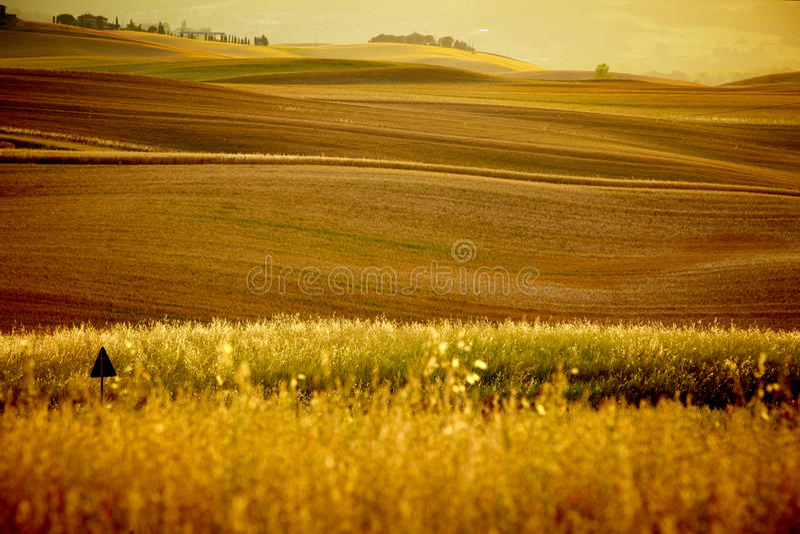 Vista escénica del paisaje de Toscana imágenes de archivo libres de regalías