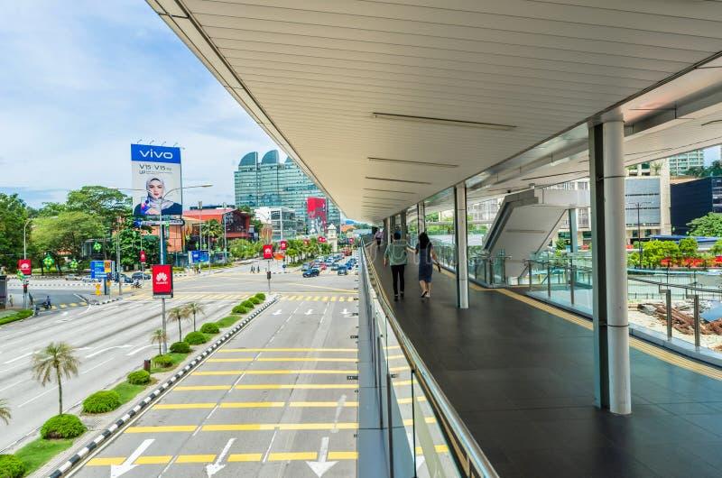 Vista escénica del paisaje urbano en Kuala Lumpur, Malasia fotografía de archivo libre de regalías