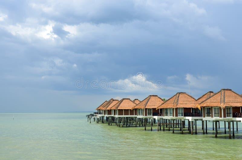 Vista escénica del puerto Dickson, Malasia foto de archivo